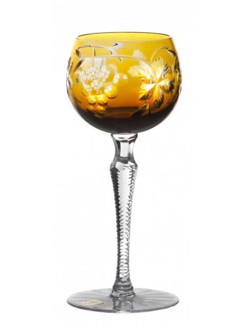 Krištáľový pohár na víno Grapes, farba jantárová, objem 190 ml