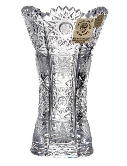 Krištáľová váza 500PK, farba číry krištáľ, výška 104 mm