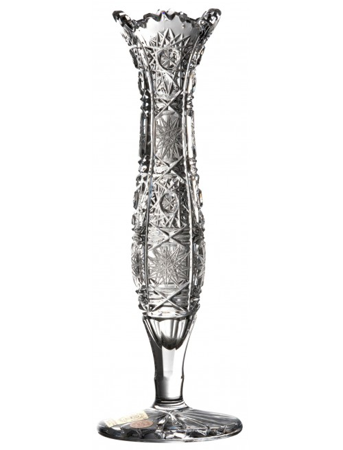 Krištáľová váza 500PK, farba číry krištáľ, výška 180 mm