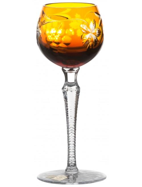 Krištáľový pohár na víno Grapes, farba jantárová, objem 170 ml