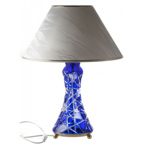 Krištáľová lampa Mars, farba modrá, výška 270 mm