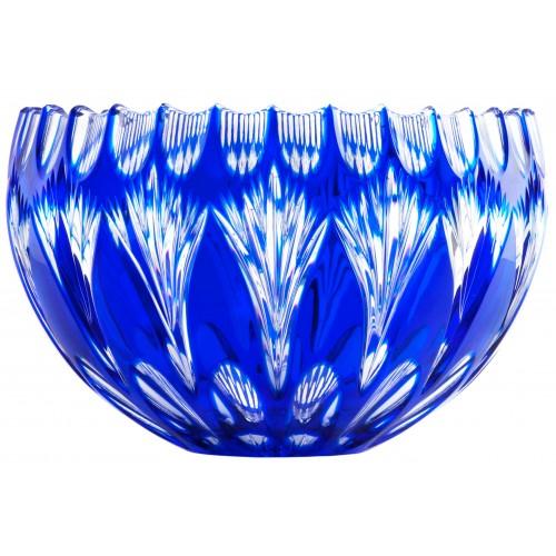 Krištáľová misa Zora, farba modrá, priemer 250 mm