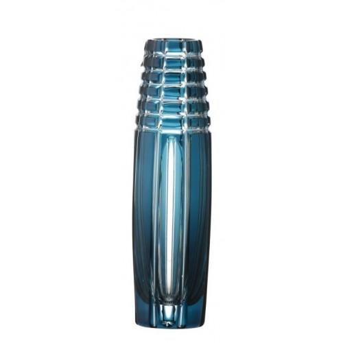 Krištáľová váza Nora, farba azúrová, výška 200 mm