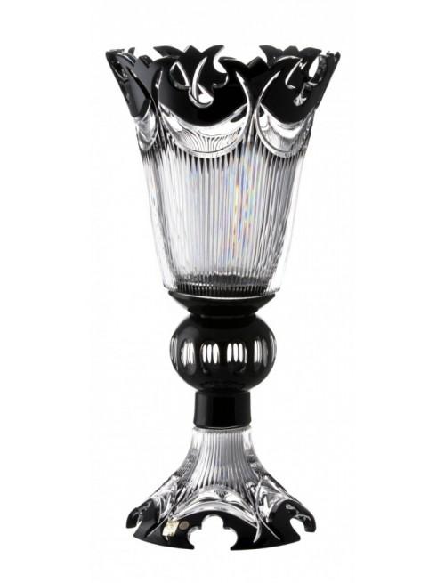 Krištáľová váza Diadem, farba čierna, výška 505 mm