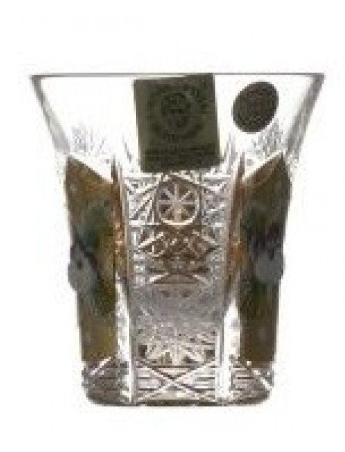 Krištáľový pohárik 500K Zlato II, farba číry krištáľ, objem 45 ml