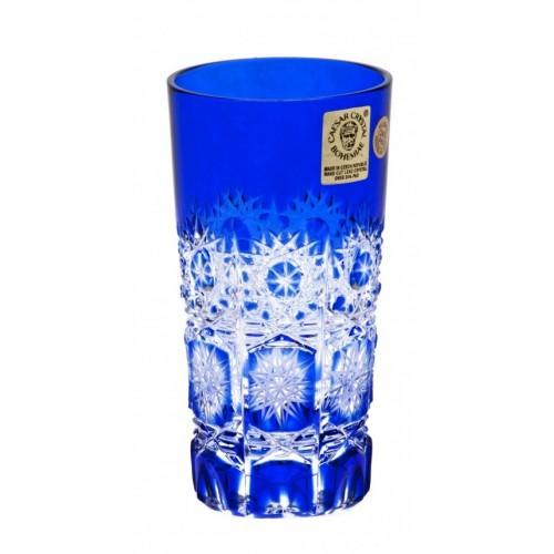 Krištáľový pohár Paula, farba modrá, objem 100 ml