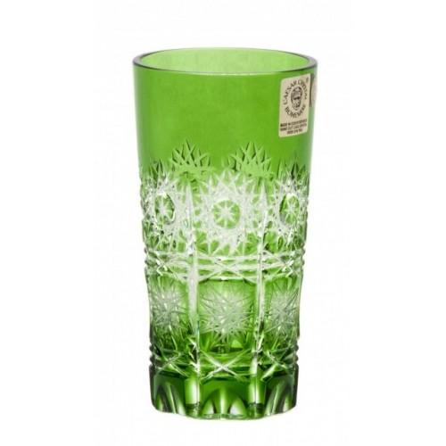 Krištáľový pohár Paula, farba zelená, objem 100 ml