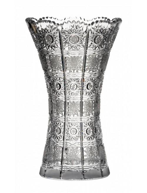 Krištáľová váza 500PK, farba číry krištáľ, výška 230 mm