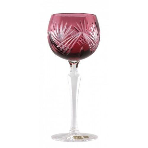 Krištáľový pohár na víno Janette, farba rubín, objem 190 ml