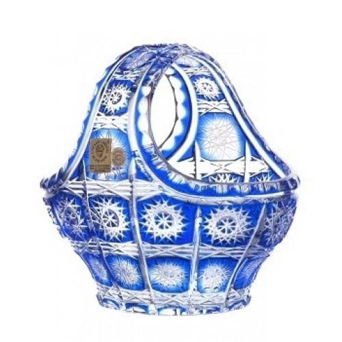 Krištáľový kôš Paula, farba modrá, priemer 150 mm
