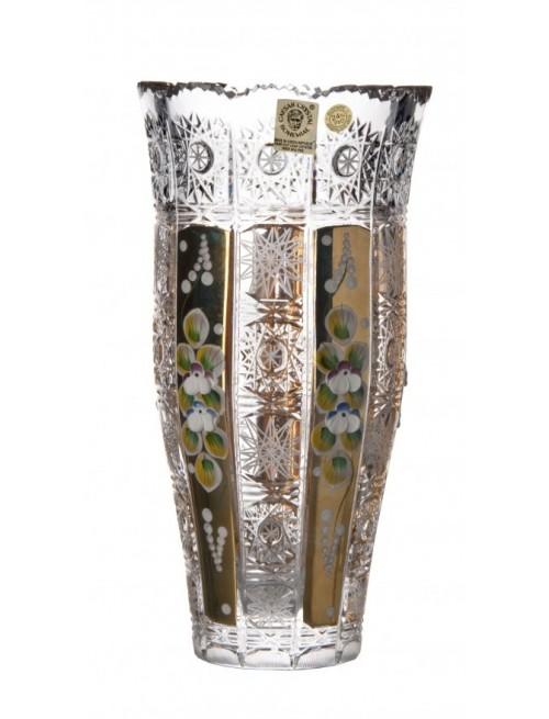 Krištáľová váza 500K Zlato III, farba číry krištáľ, výška 205 mm