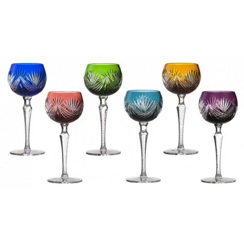 Krištáľový set pohár na víno Janette 190, farba mix farieb, objem 190 ml