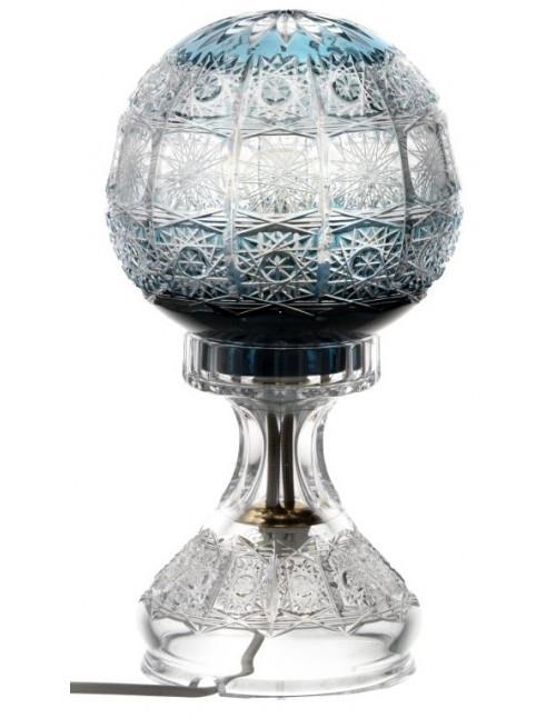 Krištáľová lampa Paula, farba azúrová, výška 305 mm