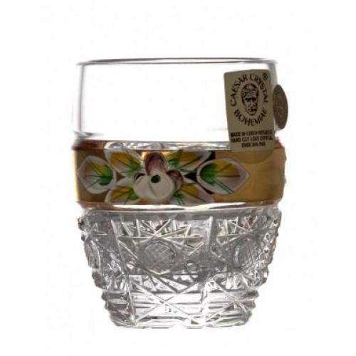 Krištáľový pohárik 500K Zlato I, farba číry krištáľ, objem 50 ml