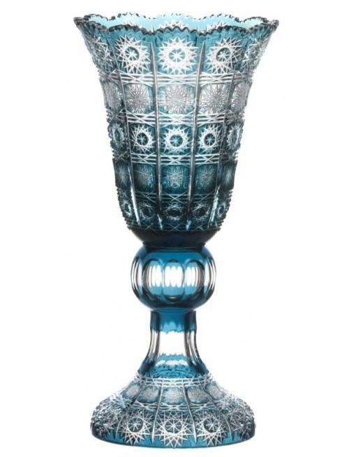 Krištáľová váza Paula, farba azúrová, výška 355 mm