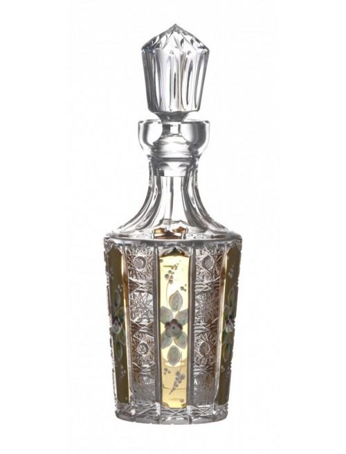 Krištáľová fľaša smalt, farba číry krištáľ, objem 1300 ml