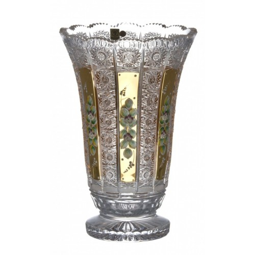 Krištáľová váza 500K Zlato I, farba číry krištáľ, výška 305 mm
