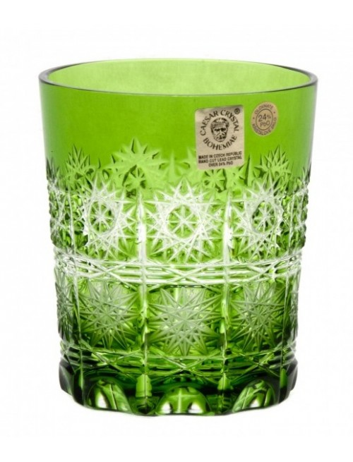 Krištáľový pohár Paula, farba zelená, objem 290 ml