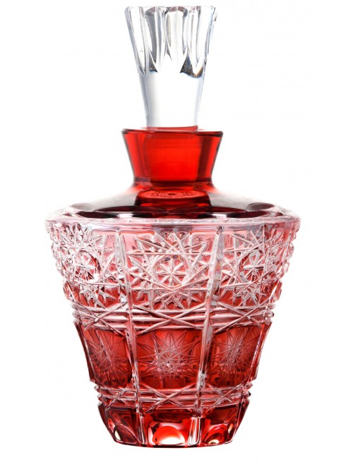 Krištáľový flakón Paula, farba rubínová, objem 170 ml