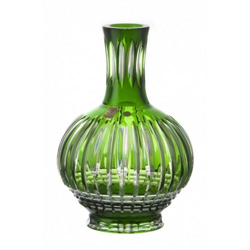 Krištáľová lampa Denver, farba zelená, výška 300 mm