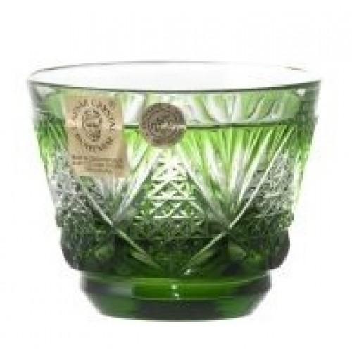 Krištáľový pohárik Sun, farba zelená, objem 65 ml