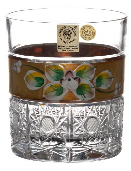Krištáľový pohár 500K Zlato, farba číry krištáľ, objem 320 ml