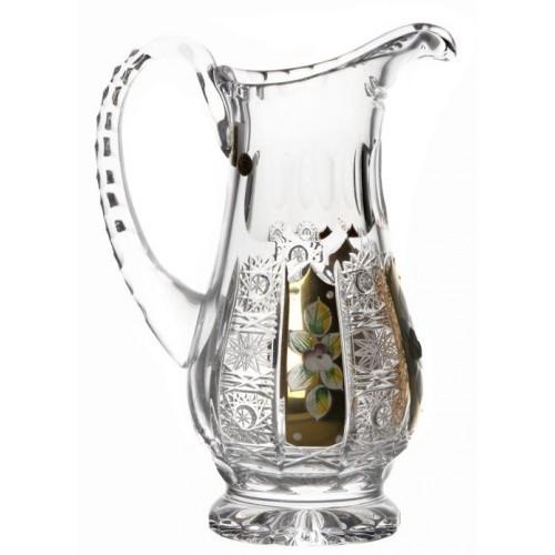 Krištáľový džbán 500PK zlato, farba čirý krištáľ, objem 550 ml