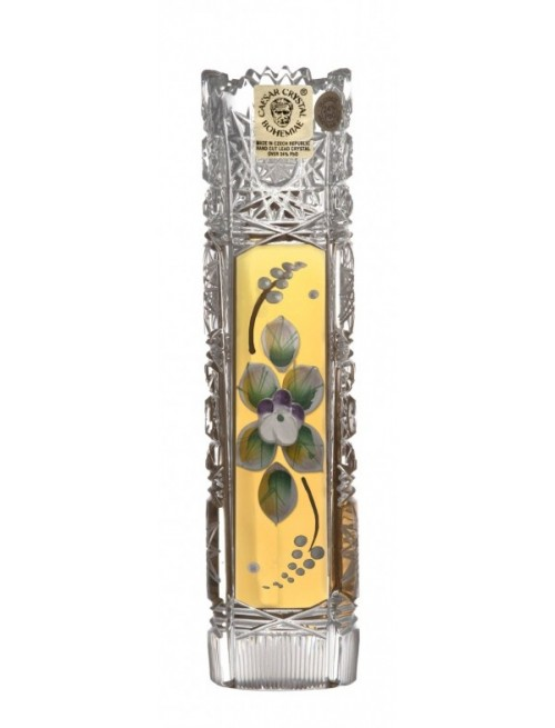 Krištáľová váza 500K Zlato I, farba číry krištáľ, výška 155 mm
