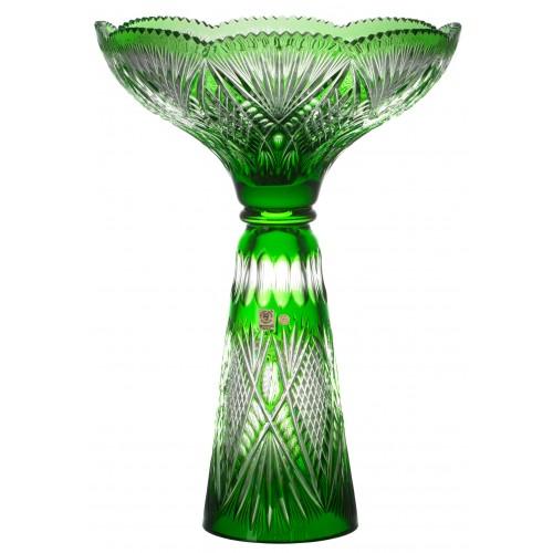 Krištáľová váza Gabriela, farba zelená, výška 465 mm
