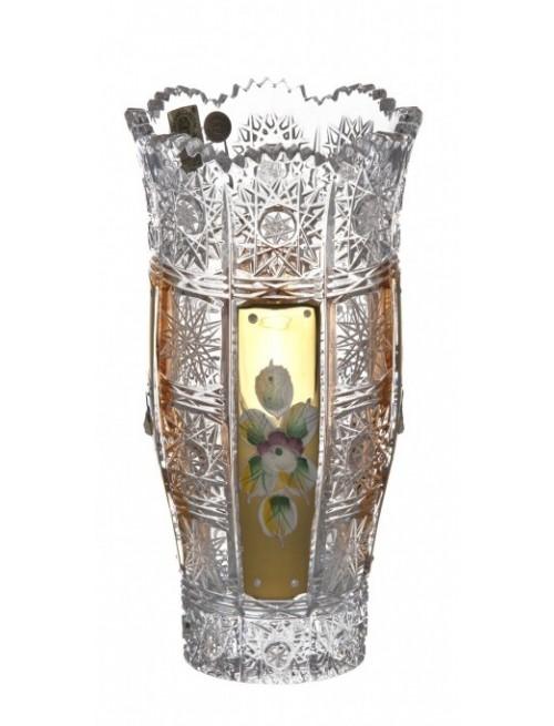 Krištáľová váza 500K Zlato II, farba číry krištáľ, výška 180 mm