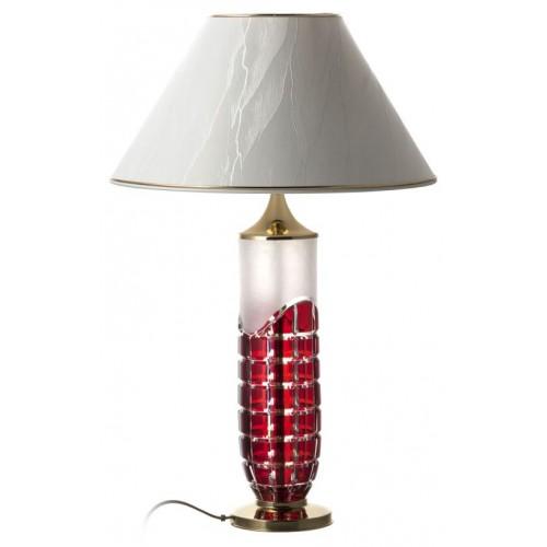 Krištáľová lampa Neron, farba rubínová, výška 325 mm