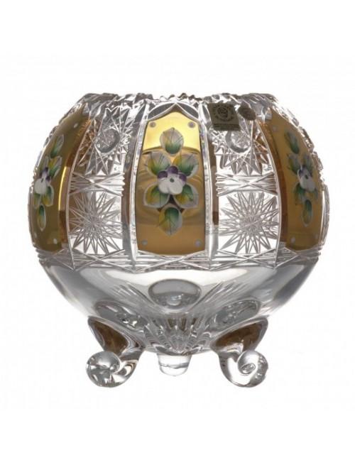 Krištáľová váza 500K Zlato I, farba číry krištáľ, výška 150 mm