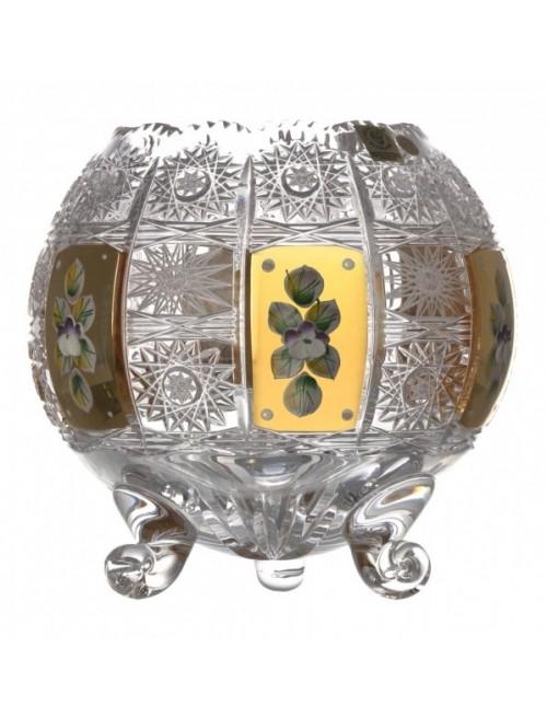 Krištáľová váza 500K Zlato, farba číry krištáľ, výška 175 mm