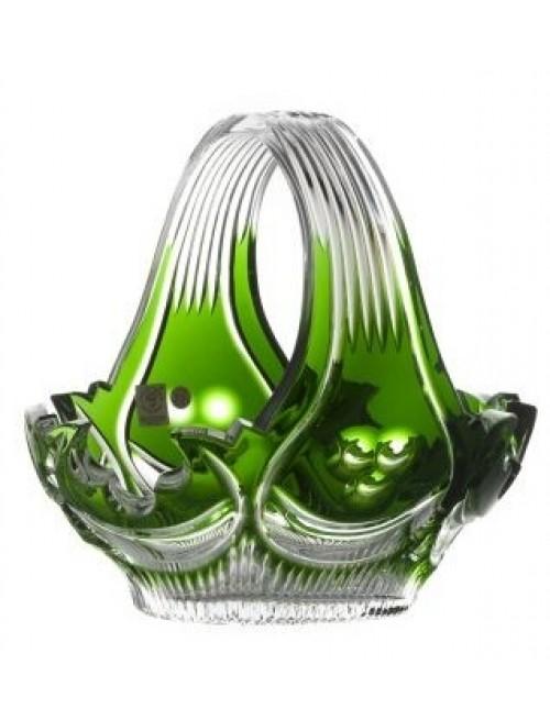 Krištáľový kôš Diadem, farba zelená, priemer 230 mm