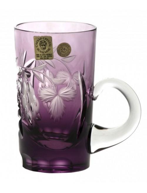 Krištáľový hrnček Nacht vinie, farba fialová, objem 100 ml