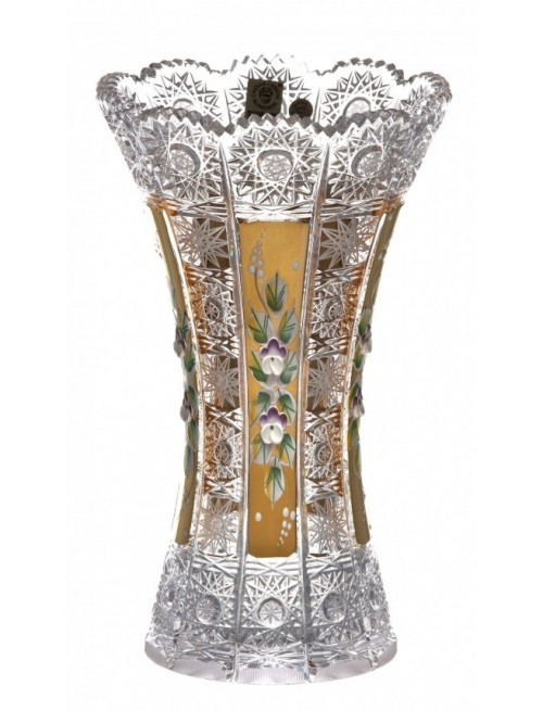 Krištáľová váza 500K Zlato, farba číry krištáľ, výška 230 mm
