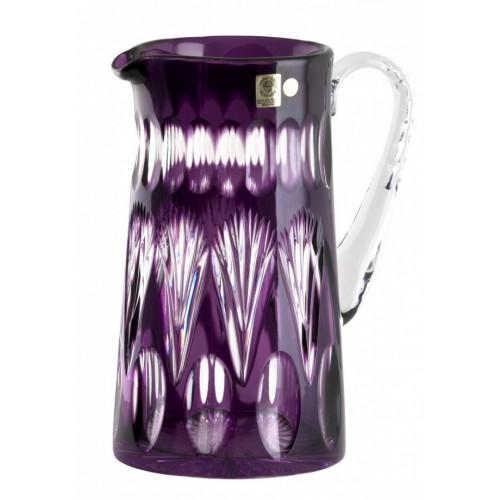 Krištáľový džbán Zora, farba fialová, objem 1450 ml