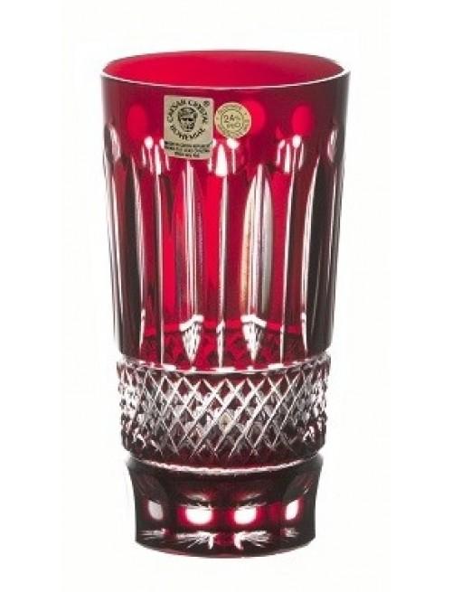 Krištáľový pohár Grapes, farba rubín, objem 320 ml