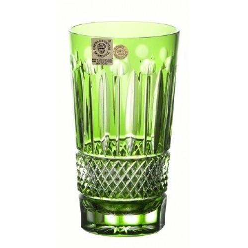Krištáľový pohár Tomy, farba zelená, objem 320 ml
