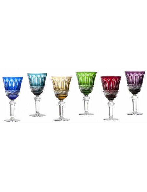 Set krištáľový pohár na víno Tomy, farba mix farieb, objem 240 ml