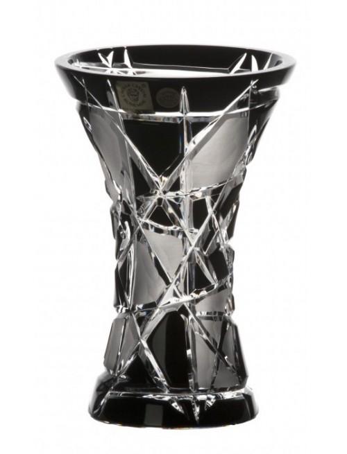 Krištáľová váza Mars, farba čierna, výška 155 mm