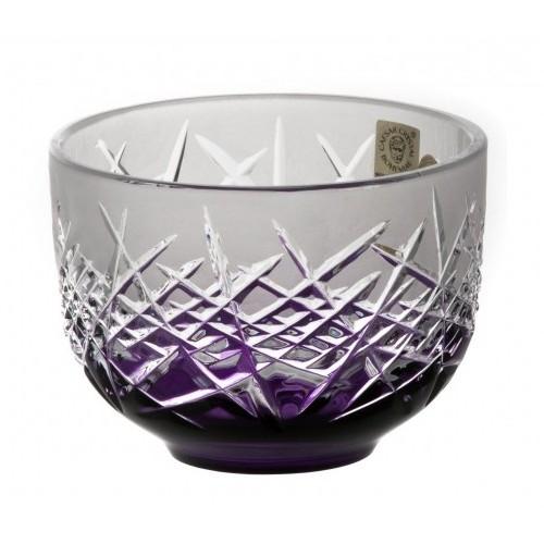 Krištáľová miska Hoarfrost, farba fialová, priemer 110 mm
