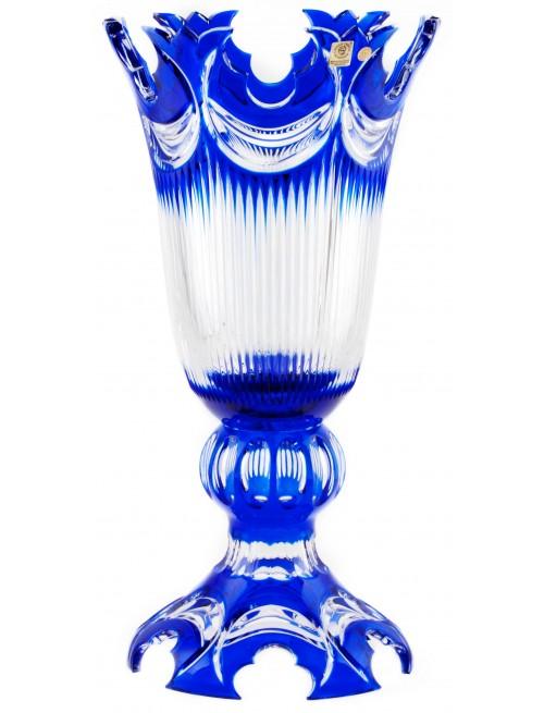 Krištáľová váza Diadem, farba modrá, výška 430 mm