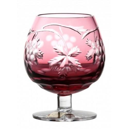 Krištáľový pohár Brandy Grapes, farba rubín, objem 230 ml
