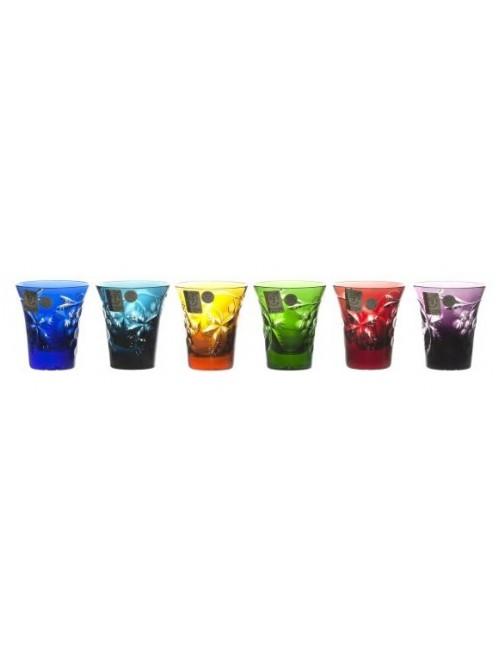 Krištáľový set pohárik Grapes, farba mix farieb, objem 75 ml