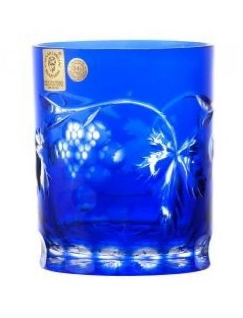 Krištáľový pohár Grapes, farba modrá, objem 320 ml