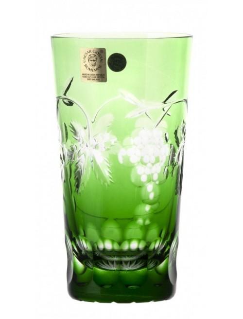 Krištáľový pohár Grapes, farba zelená, objem 320 ml