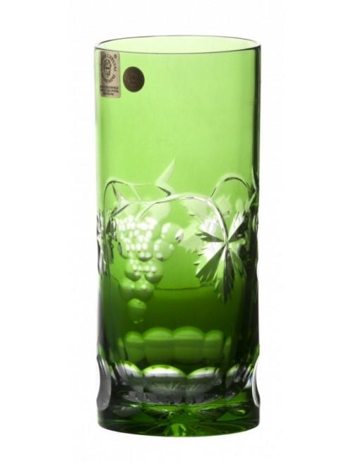 Krištáľový pohár Grapes, farba zelená, objem 350 ml