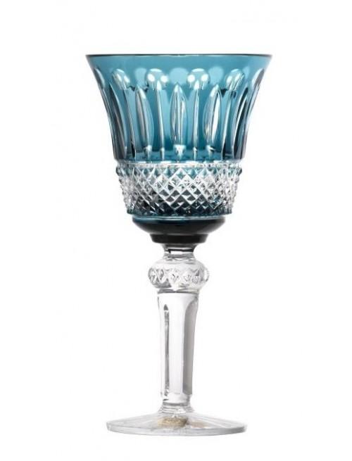Krištáľový pohár na víno Tomy, farba azúrová, objem 240 ml
