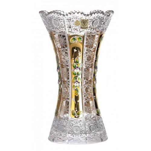 Krištáľová váza 500K Zlato II, farba číry krištáľ, výška 305 mm